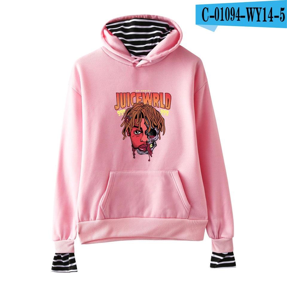 Juice Wrld Hoodie Long Sleeve Harajuku Hoodies Juce Wrld Hoodie Kpop Fake two Hoodies Sweatshirt Men/Women Hip hop Hoodies