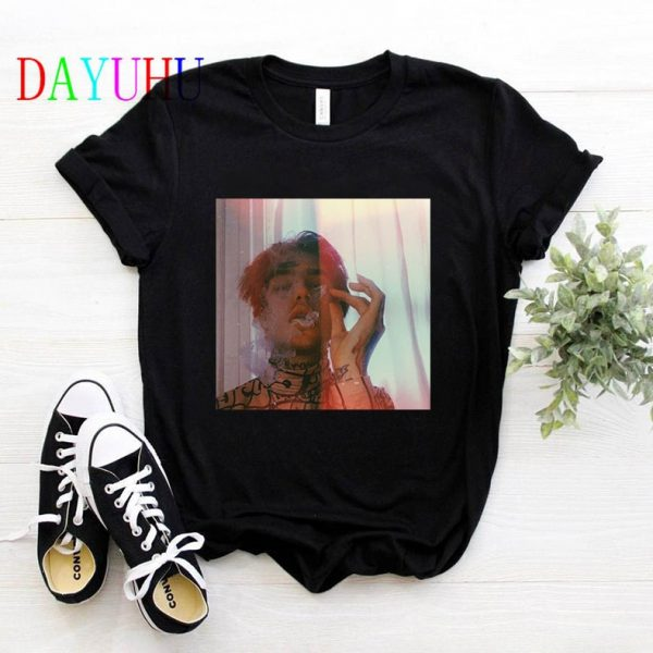 lil Peep Women T Shirt Hip Hop Funny Ulzzang Cry Baby Tshirt Streetwear Graphic Grunge Aesthetic T-shirt Female Tops Tee Shirts