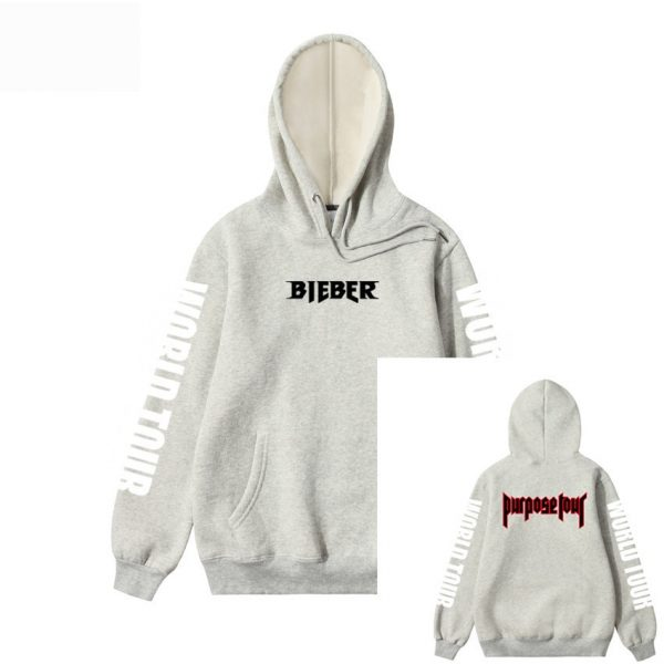 Hoodie Men Justin Bieber Purpose Tour fashion Print Hip hop Streetwear Fleece Cotton Hoody Men Women Pullover Hoodies Sweatshirt