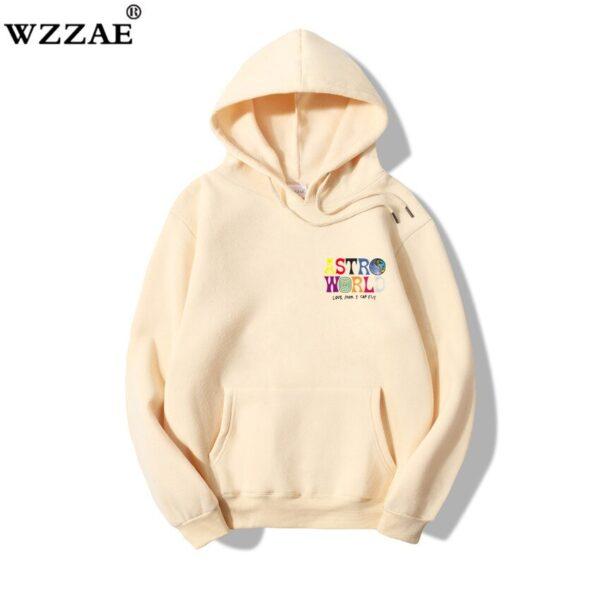 ASTROWORLD Look Mom I Can Fly Hoodie Travis Scott Astroworld Hoodie 2020 100% Cotton Men's Hip Hop Pullover Sweatshirt coat