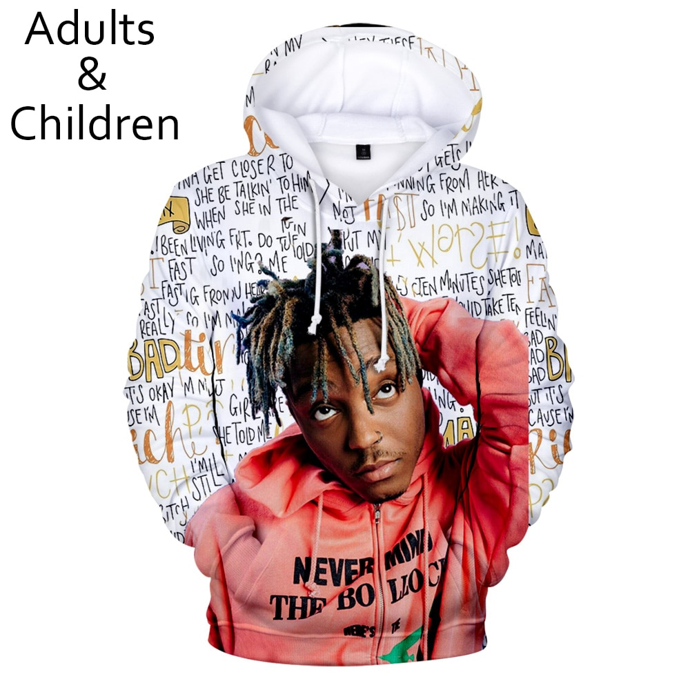3D printed Juice WRLD Hoodies Men Sweatshirts Women Fashion Kids Hoodie New pullovers Autumn Casual Juice WRLD 3D Hoodie clothes