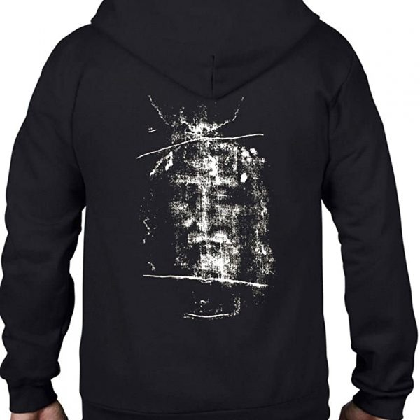 Tribal T-Shirts Turin Shroud Full Zip Hoodie