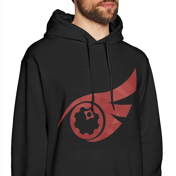 ROWANJEFFERS RWBY Qrow Hoodie Men's Casual Sweatshirt Cotton Hooded Pullover Fashion Long Sleeve Top for Men