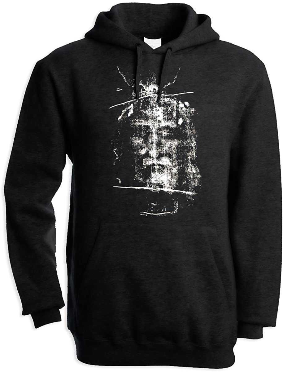 Tribal T-Shirts Turin Shroud Jesus Christ Men's Pouch Pocket Hoodie Hooded Sweatshirt