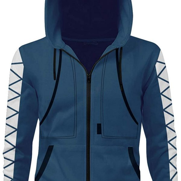 Newcos Idia Shroud Hoodie Zip-up Jacket Cosplay Costume Sweatshirt Coat Adult