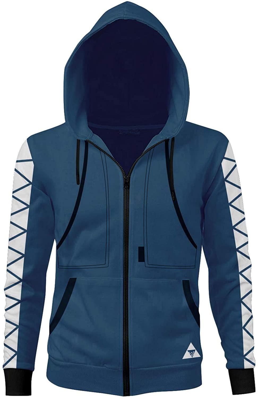 Newcos Idia Shroud Hoodie Zip-up Jacket Cosplay Costume Sweatshirt Coat Adult